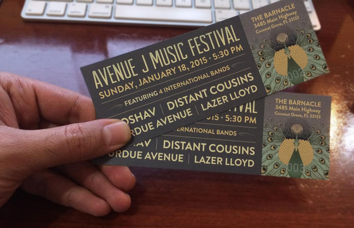 Avenue J Music Festival Tickets