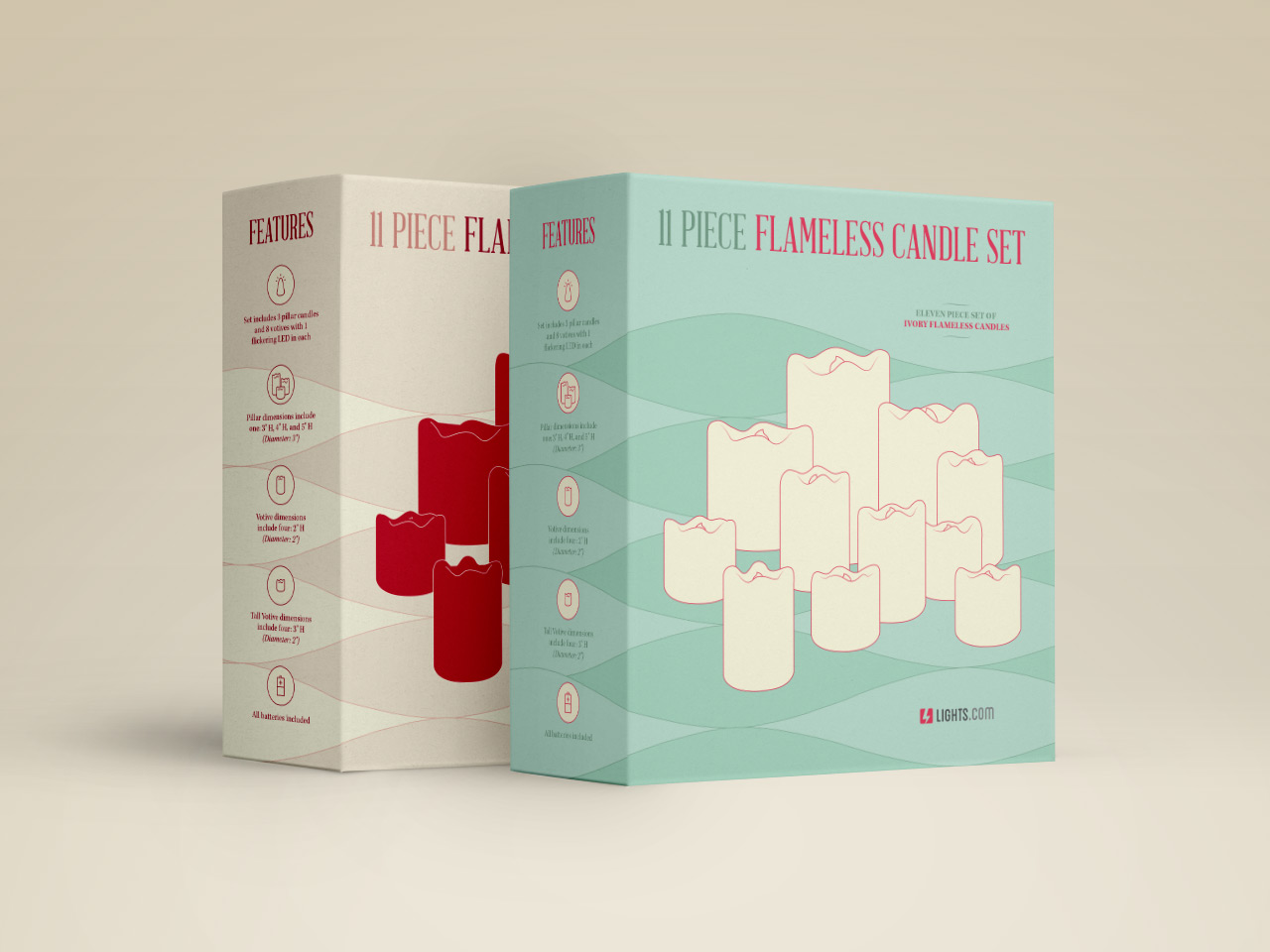 Lights.com 11 Piece Flameless Candle Set Packaging