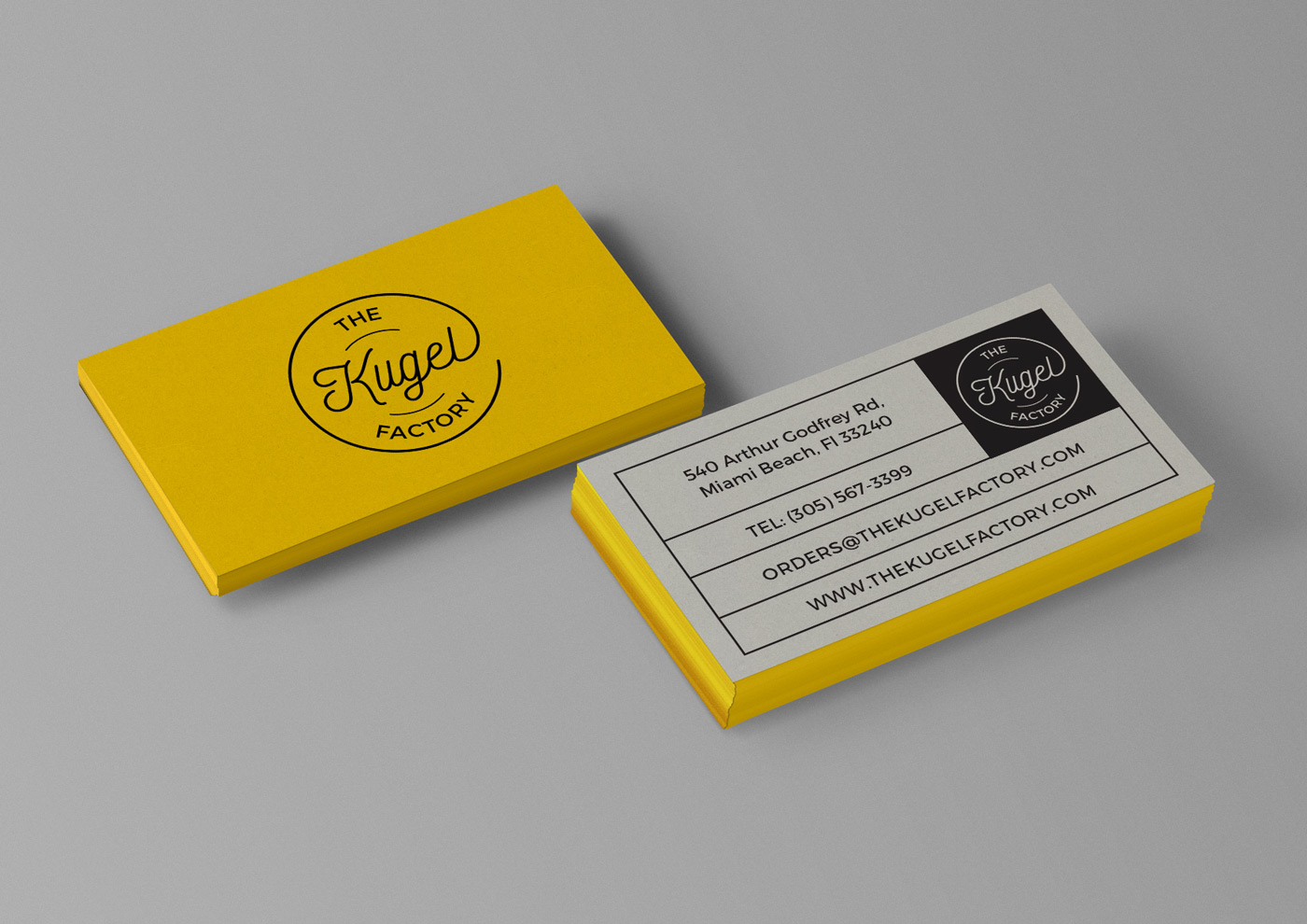 The Kugel Factory Business Card