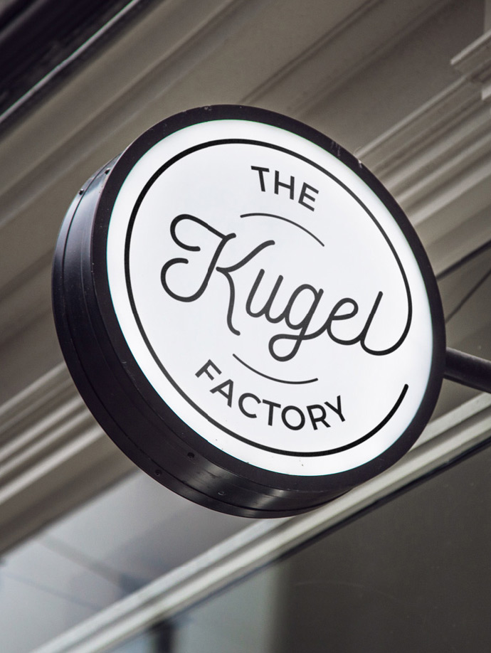 The Kugel Factory Card Sign