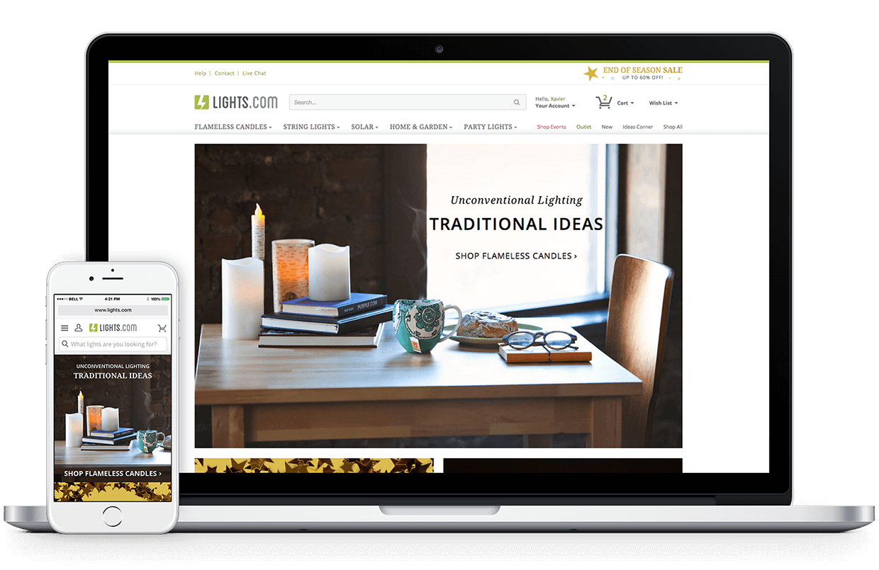 Lights.com Responsive Website